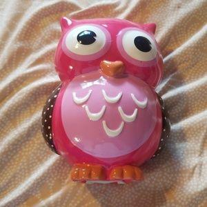 Owl piggy bank
